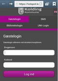print screen af brug af gæstelogin