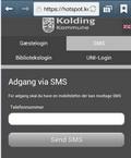 print screen af brug af sms
